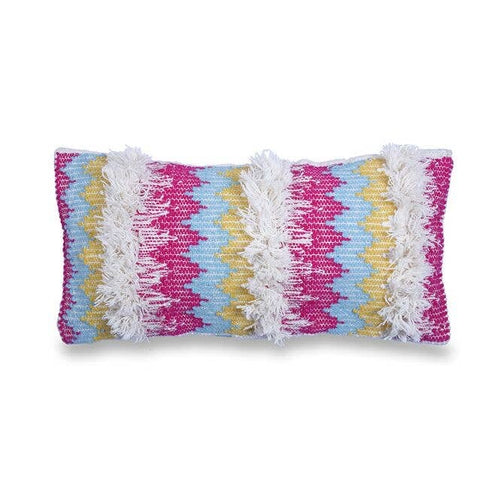 shaggy stripe lumbar pillow