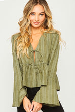 kelly stitch bell sleeve top