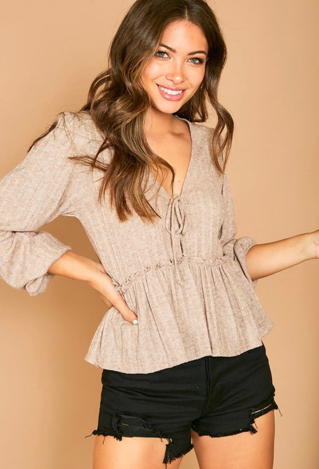 annabella textured knit top