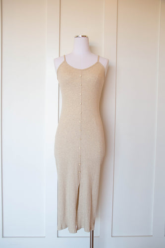 folklore ribbed midi dress