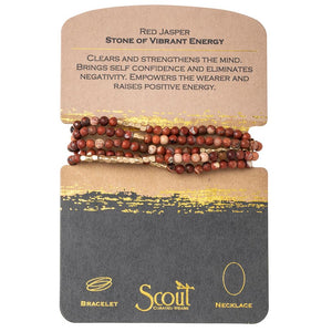 stone wrap bracelet + necklace | stone of vibrant energy