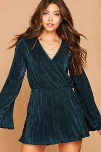 jessie pleated wrap romper