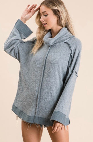 maine brushed pullover