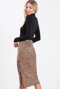 wild ones animal print midi skirt