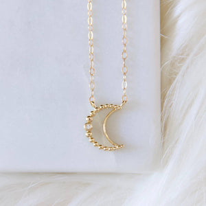 small crescent moon necklace