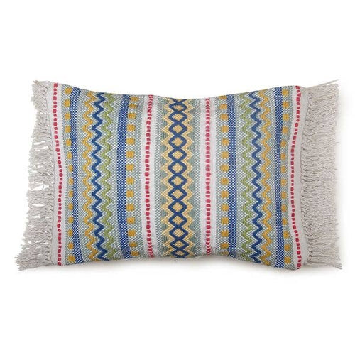 vintage rainbow lumbar pillow
