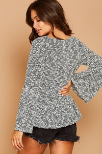 harlow knit waffle top