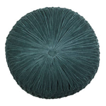 velvet round cushion | evergreen