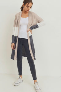 blair color block cardigan