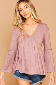 molly washed bell sleeve top