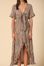 kelsey leopard print wrap dress