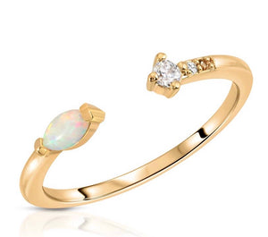 opal marquis ring