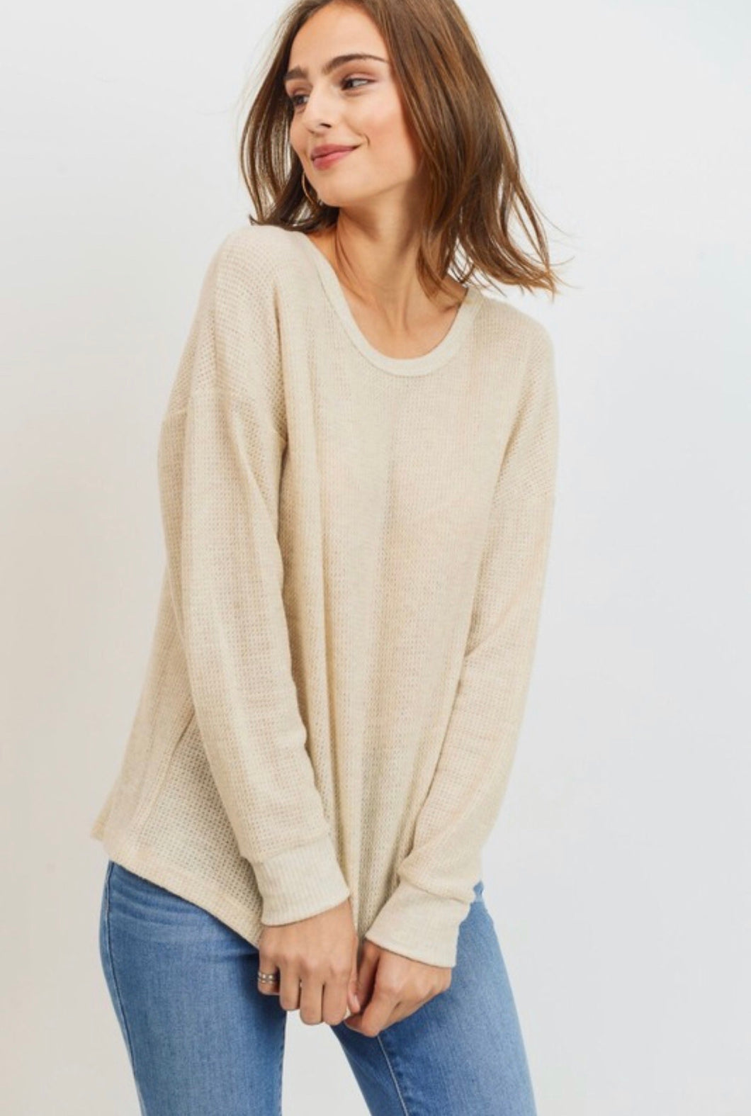 quinn tie back sweater