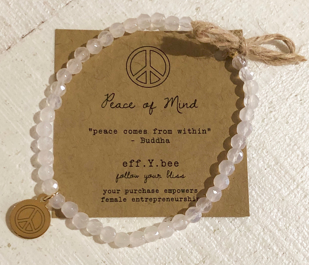 fyb follow your bliss stackable bliss bracelet beaded charm peace of mind