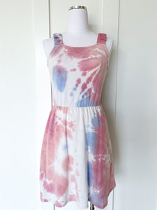 on the fourth tie dye dress