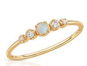 cz opal stacking ring