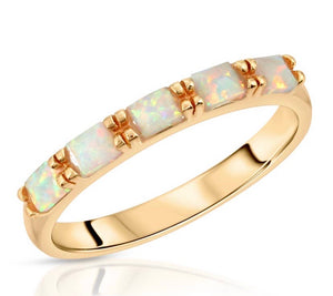 multi gem stacking ring