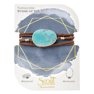suede + stone wrap bracelet | stone of the sky
