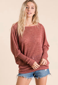 holly textured dolman top