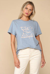 """sky's the limit"" graphic tee"
