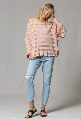 willow striped knit top