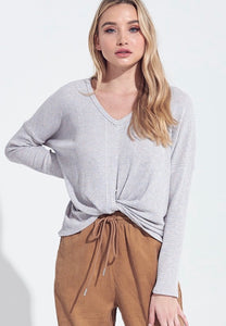 harper twisted knot sweater