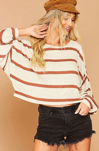 ginger striped sweater