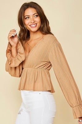 iris textured gathered top