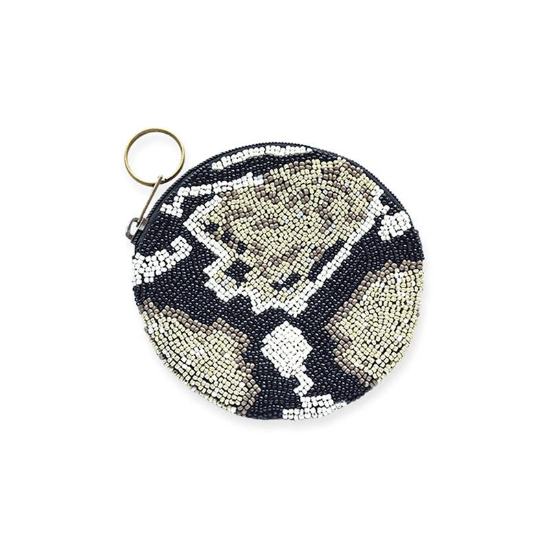 python beaded small coin purse