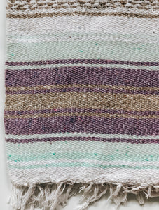 mint gray sand mexican blanket throw yoga blanket handwoven beach