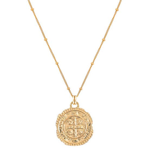 saint benedict coin necklace