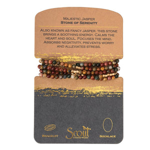 stone wrap bracelet + necklace - stone of serenity
