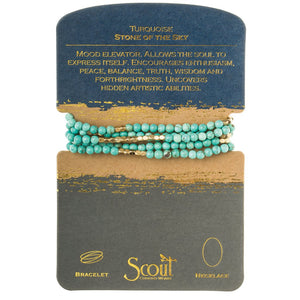 stone wrap bracelet + necklace - stone of the sky