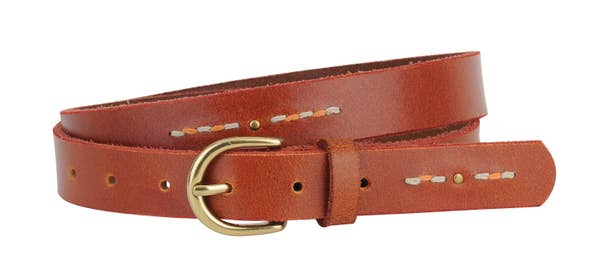 studded + stitched belt