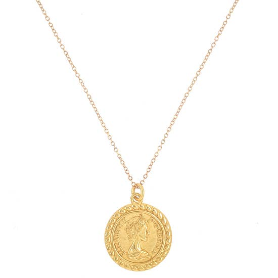 the queen coin necklace