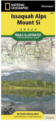 Washington National Geographic Issaquah Alps Mount Si Topographic