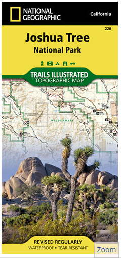Joshua Tree Topographic Map.California National Geographic Joshua Tree Topographic Map Idaho