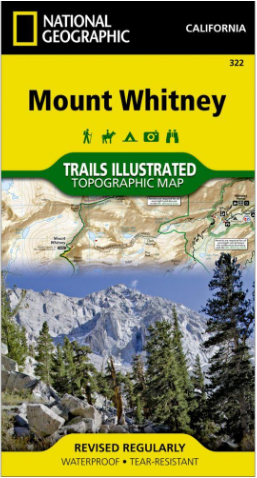 California - National Geographic Mount Whitney Topographic
