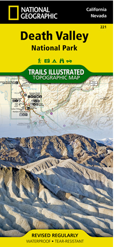 Topographic Map Of Nevada.California Nevada Death Valley National Park Topographic Map