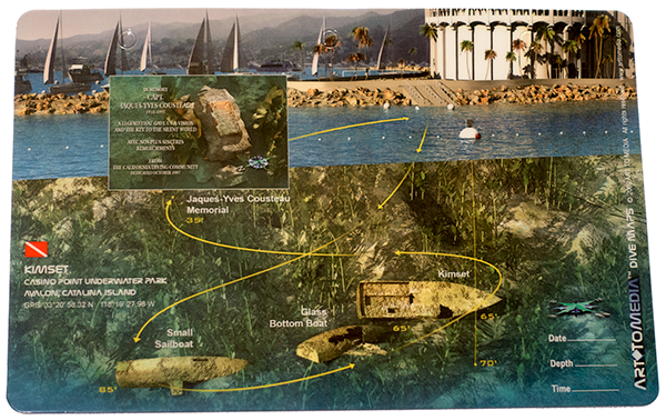 Kimset, Casino Point Underwater Park, Avalon, California - Art To Media Dive Map