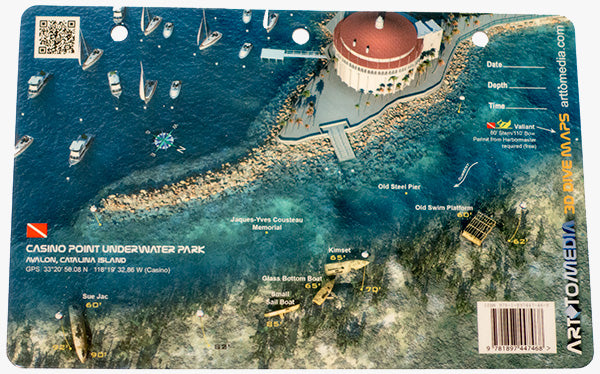 Point Underwater Park, Avalon, Catalina Island - Dive Map ... on
