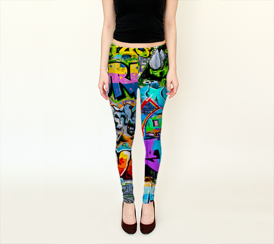 Berlin Graffitti 1 Leggings -  - Leggings - escapistWEAR - 1