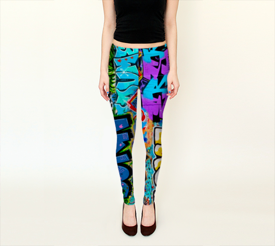 Berlin Graffitti 2 Leggings -  - Leggings - escapistWEAR - 1