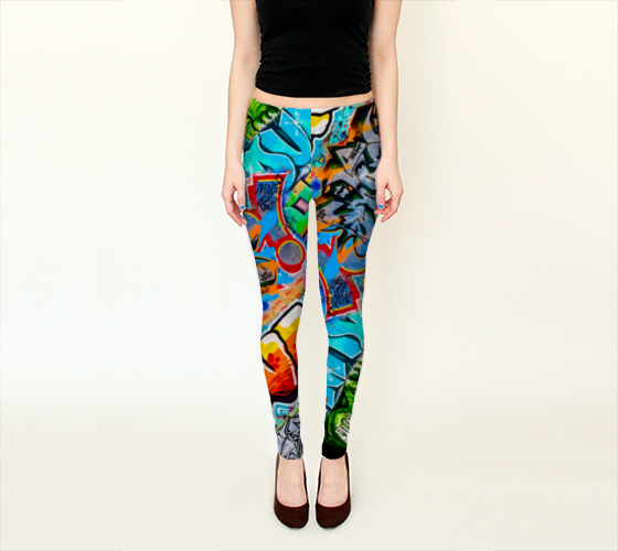 Berlin Graffitti 3 Leggings -  - Leggings - escapistWEAR - 1