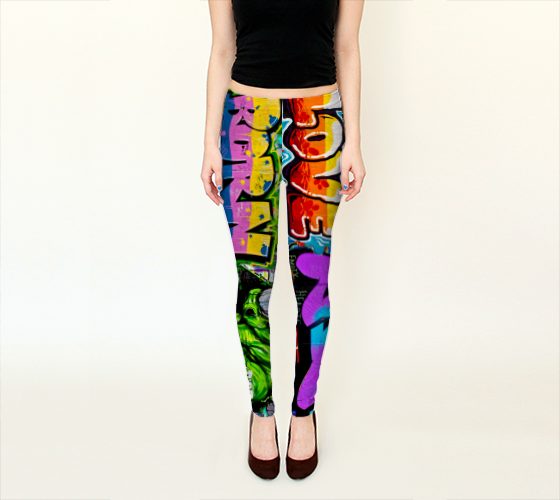 Berlin Graffitti 4 Leggings -  - Leggings - escapistWEAR - 1