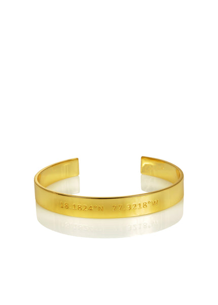 WORD UNISEX CUFF - JAMAICA NAUTICAL COORDINATES