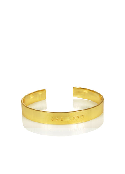 WORD UNISEX CUFF - ONE LOVE