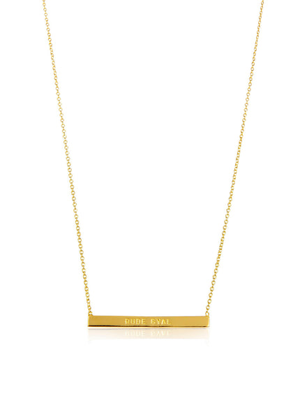 rude gyal necklace grande products jewelry galavant g bar word