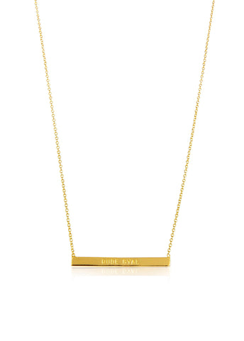WORD BAR NECKLACE - RUDE GYAL