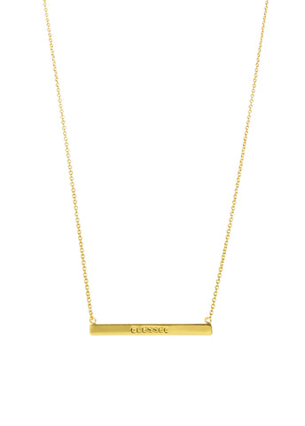 WORD BAR NECKLACE - BLESSED